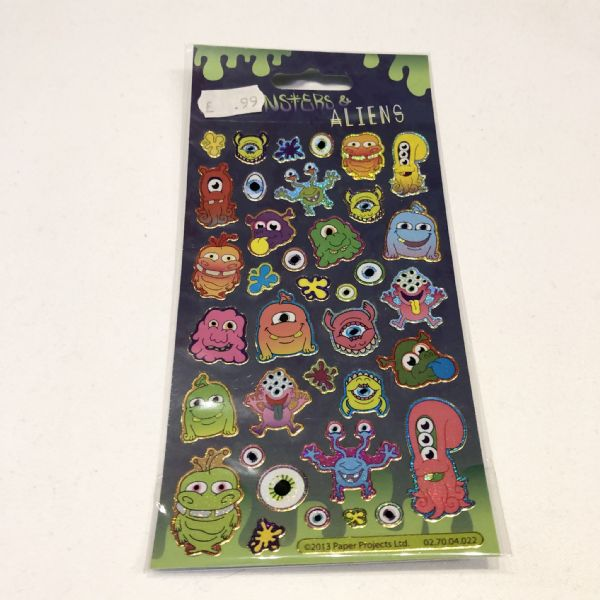 Stickers : Monsters & Aliens Foil